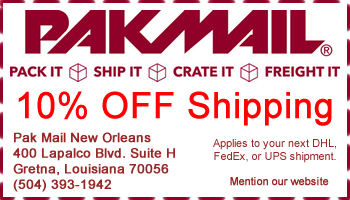 New Orleans Coupons >> Pak Mail New Orleans Shipping Coupons